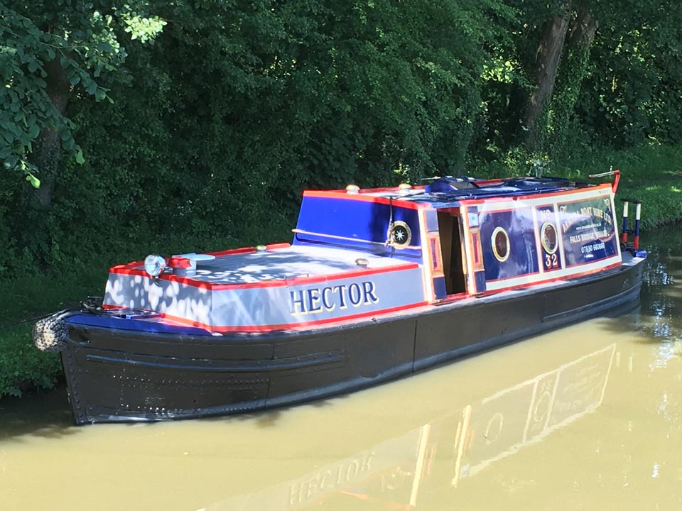 Hector canal Boat in Warwickshire